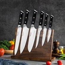 Japon mutfak bıçakları 8 inç şef bıçak seti almanya 1.4116 yüksek karbonlu çelik Santoku balıkçılık keskin mutfak bıçağı el yapımı
