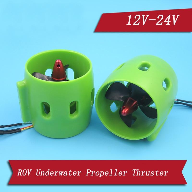 1pcs 12V-24V Water Jet Engine 20A Brushless Motor Underwater Propeller Thruster For RC Tug Bait Boats 3D Printing Waterjet