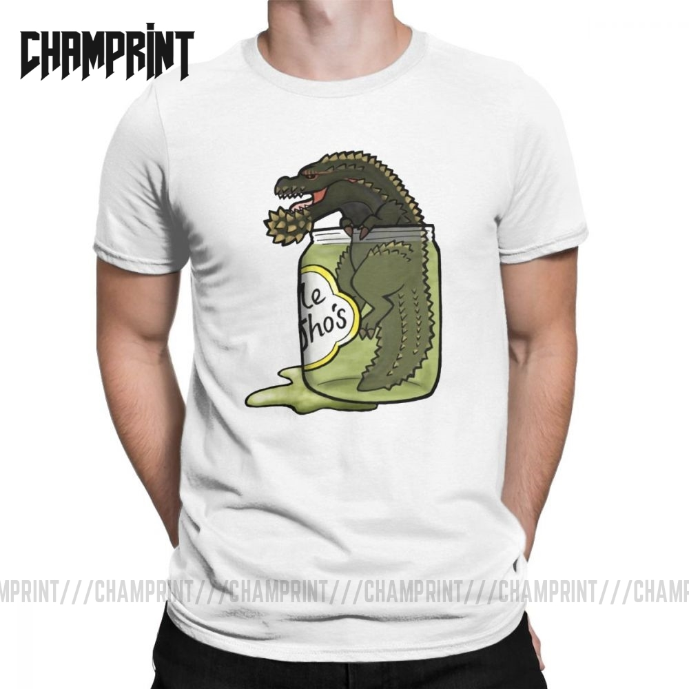 Men's T-Shirt Monster Hunter World The Terrifying PickleJho Vintage Cotton Tee Shirt Short Sleeve T Shirt Tops Printed Plus Size