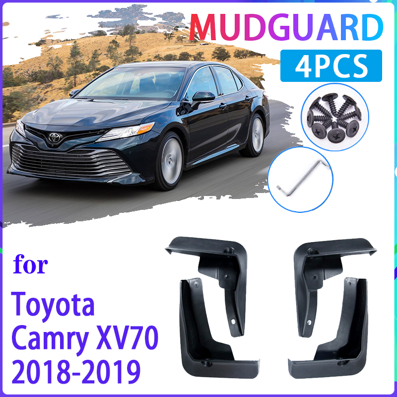 Car Mud Flaps for Toyota Camry 2018~2019 XV70 Mudguard Splash Guards Fender Mudflaps Auto Accessories image