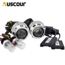2 шт. 2,5 дюймов hid Биксенон объектив проектора кожух 35 Вт 5000 К ксеноновая балластная лампа автомобильный комплект для сборки подходит для h1 h4 h7 модель автомобиля Mofify