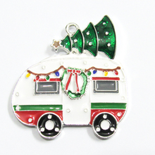 Christmas-Tree-Pendants with for Chunky Camper 44mm--41mm Newest All-Enamel 10pcs/Lot