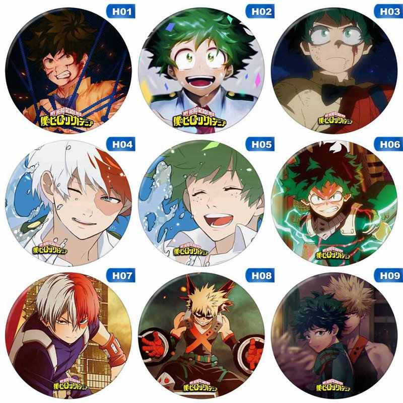 Mooie Anime Badge Boku Geen Hero Academia/Mijn Hero Academia Badge Cosplay Pin Knop 2.3""