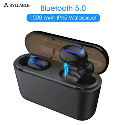 Оригинальный слог HBQ-Q32 наушники-вкладыши TWS Bluetooth V5.0 мини Беспроводной спортивные наушники для IOS и Android слог Q32 True Беспроводной стерео