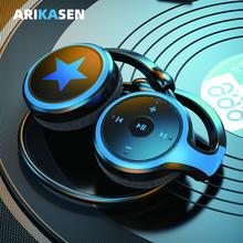 A23 Bluetooth headphones MP3 Player FM Radio 10H Bluetooth earphone comfortable bluetooth headset wireless headphones with mic cheap arikasen Neckband Dynamic CN(Origin) 93±3dBdB 60mW 0 3mm for Video Game Common Headphone For Mobile Phone HiFi Headphone