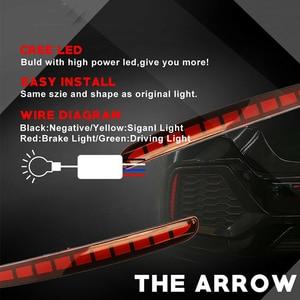 Image 4 - IJDM Luz LED multifunción para parachoques trasero, Bombilla de freno, Reflector, antiniebla, para Honda Civic Hatchback 2016 2017 2018