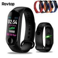 M3plus Bracelet intelligent Bracelet intelligent avec écran couleur M3 Plus bande intelligente fréquence cardiaque activité Fitness Tracker montre intelligente