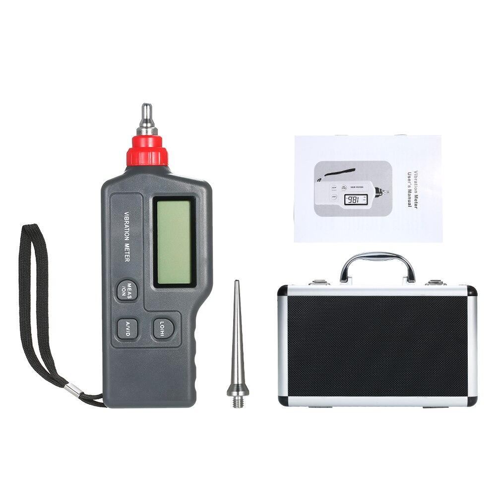 Виброметр портативный цифровой виброметр с ЖК-экраном анализатор вибрации тестер переменного тока Скорость ускорения