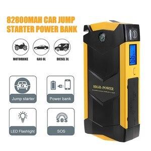12V 600A USB 82800mAh Car Jump Starter High Capacity LED Light Mutifuction Portable Car Battery Booster Charger Power Bank