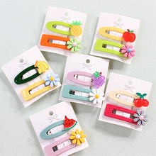 10Pcs New Girls Headwear Set Ins Flower Fruit Hair Clips Cute Barrettes Kids Accessories Colorful Sweet Hairpins for