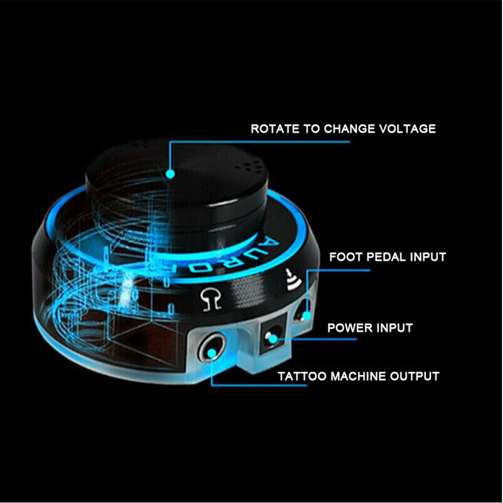 Push Start Accessories LCD Coil Rotary Machines Mono Jack Professional Magnetic Digital Knob Control Round Tattoo Power Supply