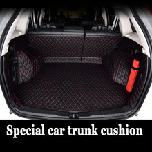 Special car trunk mats made for Kia K7 Cadenza full cover waterproof foot case car-styling carpet rugs perfect liners (2011-now)(China)
