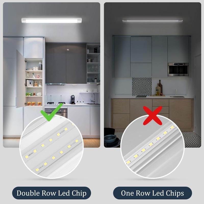 Led Lights For Kitchen 220V 110V Under Cabinet Lights Cabinet Led Closet Light 10/20W 30/50CM Home Wardrobe Bedroom Wall Lamp 6