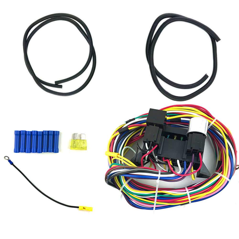 Car Wires Complete Kit 12 Circuit Universal Wiring Harness Bumper to Bumper  Wire Kit Car Safety Wires Complete Kit|Fuses| - AliExpressAliExpress