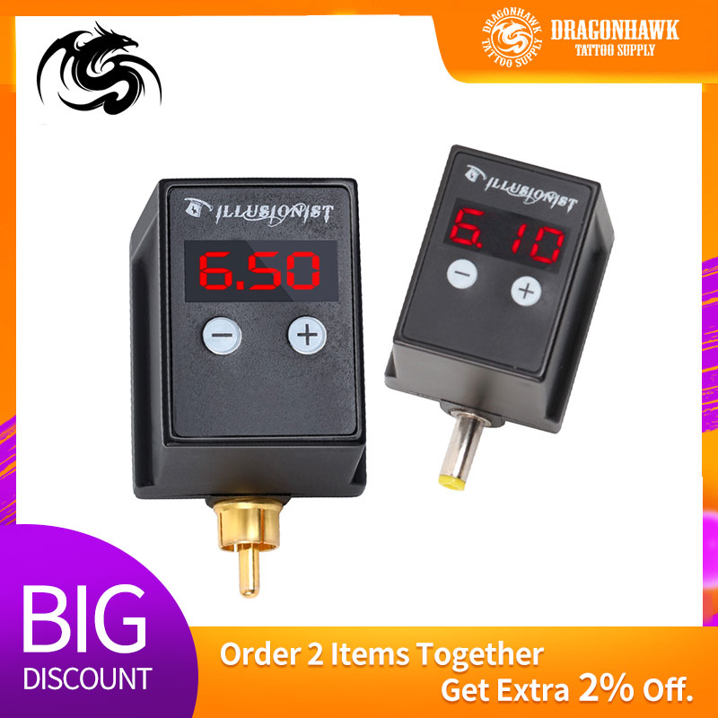 Rechargeable Tattoo Machine Battery Power LCD Permanent Tattoo Pen Power Supplies Makeup Machine Power Supply Cord