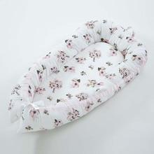 Детское гнездо кровать портативная бионическая кроватка дорожная кроватка складная детская хлопковая Колыбель новорожденный удаляемый моющийся люлька бампер