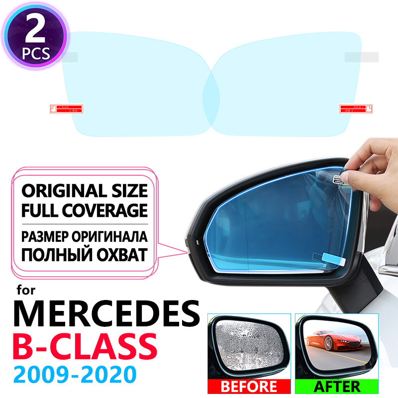 Full Cover Anti Fog Film Rainproof Rearview Mirrors for <font><b>Mercedes</b></font> Benz B-Class W245 <font><b>W246</b></font> W247 B-Klasse B160 <font><b>B180</b></font> B200 Accessories image