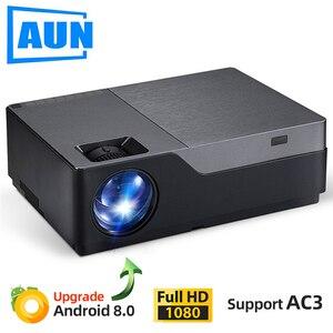 Image 1 - AUN projecteur Full HD M18UP, 1920x1080P, Android 8.0 WIFI vidéoprojecteur, projecteur LED pour Home Cinema 4K (en option M18 AC3)