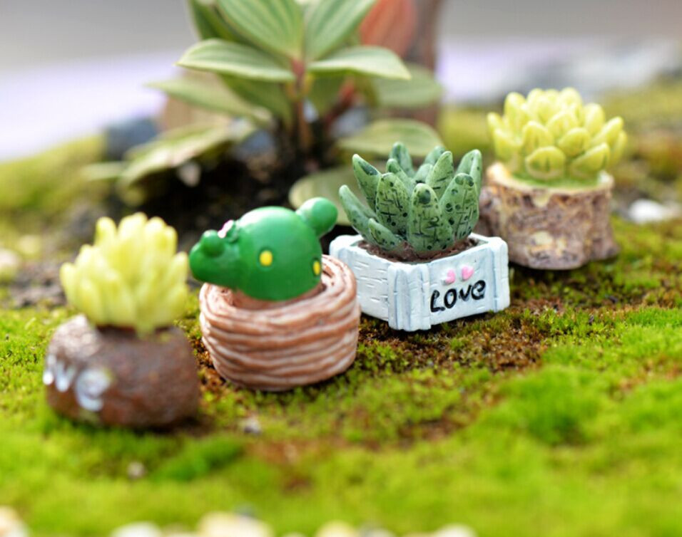 Mini Artificial Cactus Lifelike Fleshy Plant Landscape Cute Funny Home Desk Decor Bonsai Potted Placed Green Table Ornaments /d