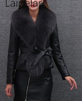 Laipelar High Quality Fur Coat Luxury Faux Fox Warm Women Vests Winter Fashion Furs Womens Coats Jacket Gilet Veste 3XL