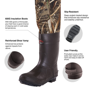 Image 3 - TideWe Hunting Fishing Chest Waders for Men Women Realtree MAX5 Camo with 600G Insulation Waterproof Cleated Neoprene Bootfoot