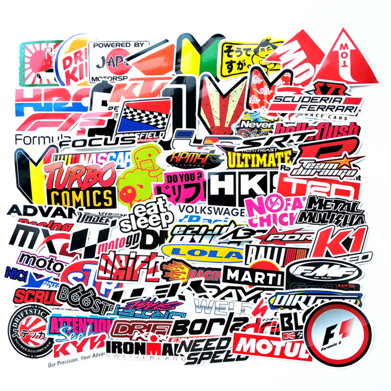 100pcs Funny Word Car Stickers On Motorcycle Suitcase Decor Phone Laptop Covers DIY Vinyl Decal Sticker Bomb JDM Car Styling F2