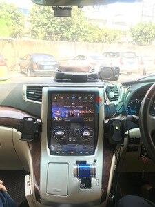 Автомобильный DVD-плеер в стиле Тесла, GPS-навигация для-Toyota-Alphard A20 10-14, автомобильный мультимедийный плеер с вертикальным экраном, автомобильн...