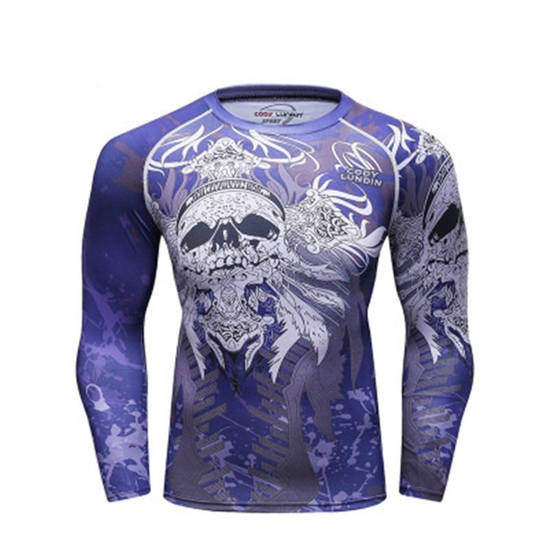 Camiseta manga longa masculina rashguard, camiseta esportiva