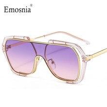 2020 yeni boy tek parça güneş gözlüğü kadınlar için Vintage lüks marka düz üst güneş gözlüğü erkekler renkli gözlük UV400