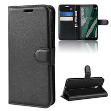 Telefoon Geval Voor Nokia 1 Plus Flip PU Leather Cover Case Voor Nokia1 Plus Nokia 1plus Wallet Smartphone tas Coque Funda Case(China)