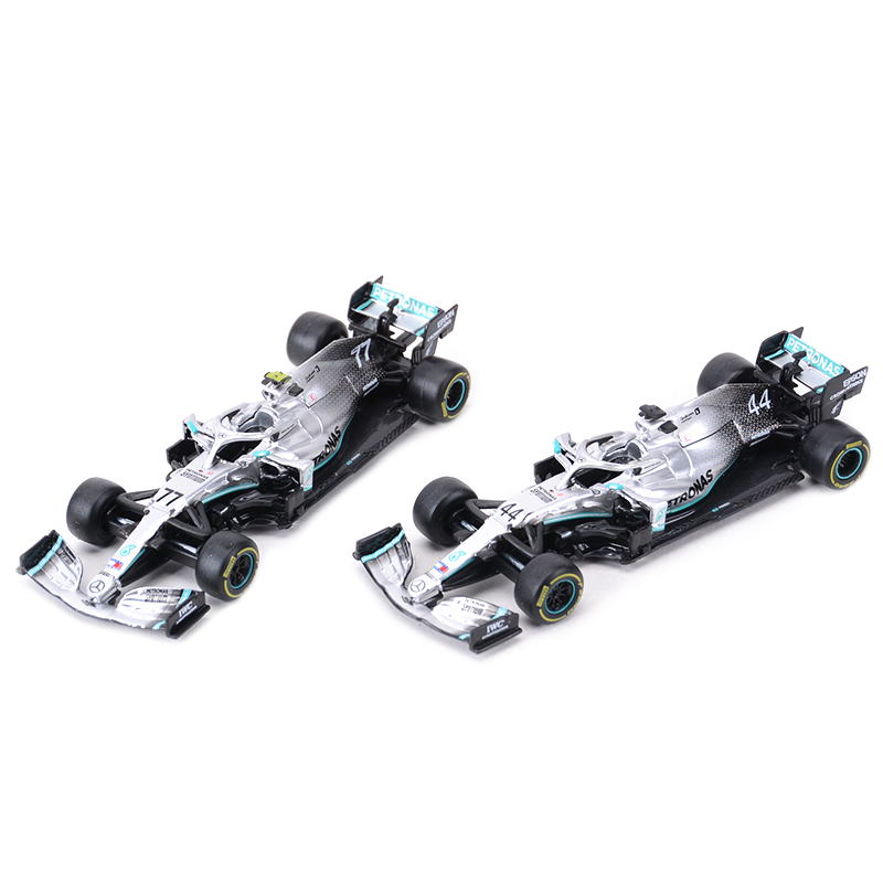Bburago 1:43 2019 W10 #77 #44 W07 #6 #44 F1 Racing Formula Car Static Simulation Diecast Alloy Model Car