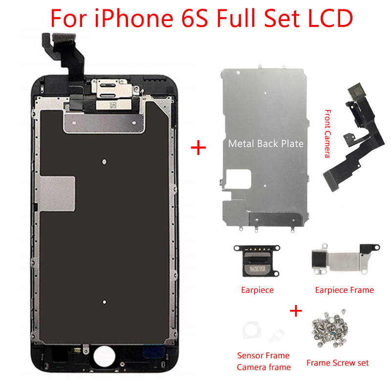 AAA Full Set For iPhone 6S A1633 A1688 LCD Display Touch Screen Assembly 100% Tested Earpiece Speaker Front Camera Free Tools image