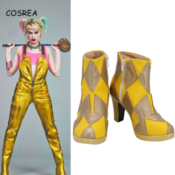 2020 Birds of Prey Cosplay Shoes Suicide Squad Harley Quinn High Heels Boots 4 Styles Halloween Women Girls Custom Made Props the rising of the shield hero itsuki kawasumi shoes cosplay boots custom made any size