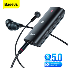 Baseus Bongiovi DPS Bluetooth 5.0 Receiver 3.5mm Jack Bluetooth Audio Aux Aptx LL HD Wireless Adapter Transmitter For Headphone