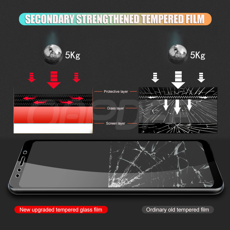 9H Anti-Burst Protective Glass For Xiaomi Redmi 5 Plus 5A 4 4X 4A S2 K20 Note 4 4X 5 5A Pro Tempered Screen Protector Glass Film