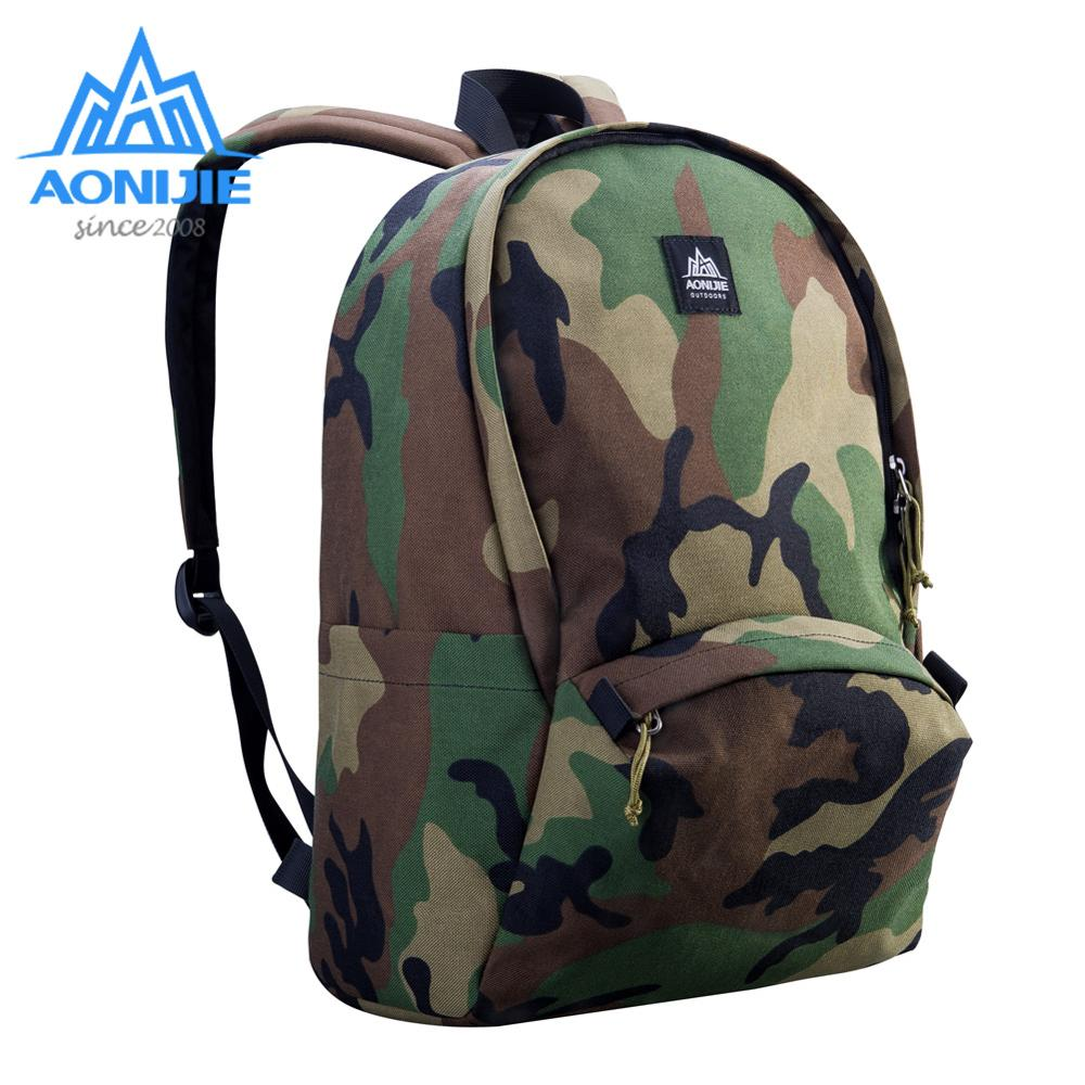 AONIJIE Outdoor Camouflage Backpack Bag 14in Laptop Backpack Water Resistant Travel  Computer Camo Rucksack School Bag Climbing