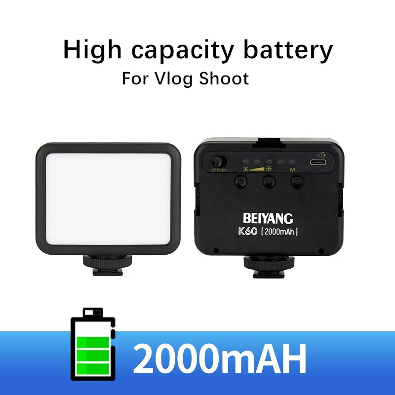 BEIYANG K60 5500K Mini Led Fill Light Portable Camera Lamp Live Video Shooting Ring Light Blogger Photography conference Lamp 4