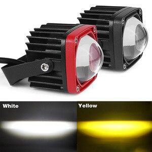Image 1 - 2 inch LED Work Light 8D lens Driving Light led fog lights For Car 4x4 offroad SUV ATV Tractor Boat Trucks Motorcycle 12V 24V