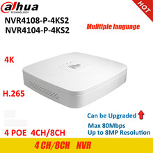 Dahua NVR Video-Recorder NVR4104-P-4KS2 Network H.265-Lite 8ch-4poe-Port P2P 4ch Up-To-8mp-Resolution