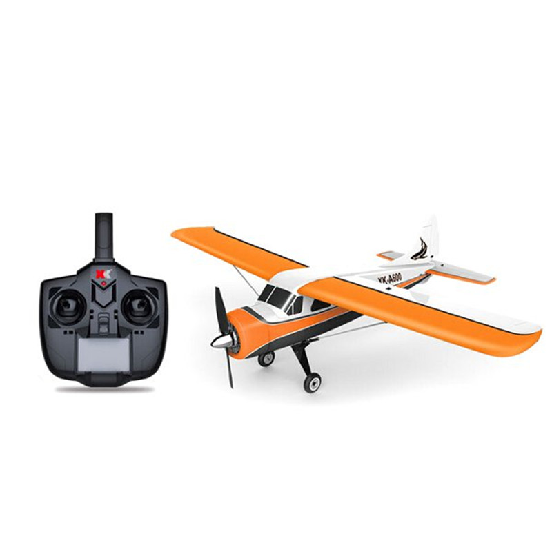 2020 New XK DHC-2 DHC2 A600 5CH 3D 6G System Brushless Motor RC Airplane Compatible Futaba RTF Mode 1:2 Rolling image
