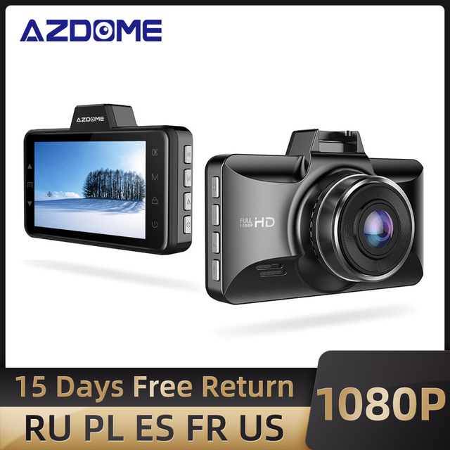 """AZDOME 3 """"M01 פרו רכב DVR IPS מסך 1080P כפול עדשת מצלמת מקף נהיגה מקליט ראיית לילה G חיישן לולאה הקלטת מצלמה רכב"""