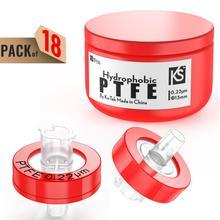 FILTERS Ptfe-Membrane Syringe 13mm Diameter-Hydrophobic Pore-Size Ks-Tek by 18pcs