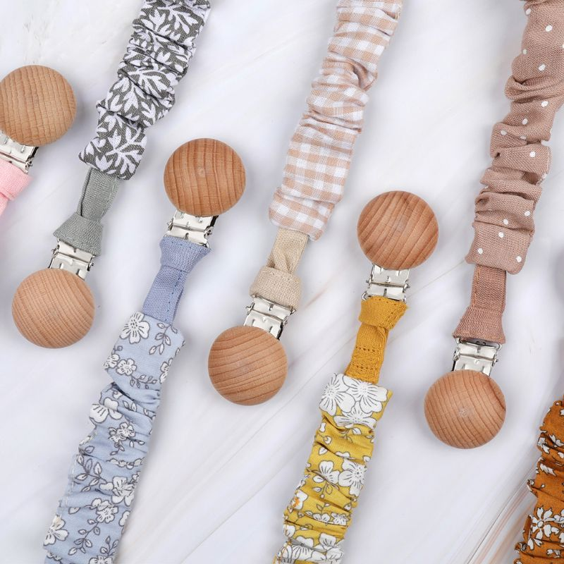 Baby Infant Cotton Pacifier Clip For Newborn Teething Soother Chew Dummy Chains CORB