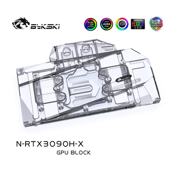 Bykski GPU Water Block For ZOTAC, Colorful Founders Edition RTX3090 3080 Graphics Card ,VGA Watercooler ,N-RTX3090H-X bykski watercooler for rtx 3090 rtx 3080 maxsun palit founders edition full cover water block aic n rtx3090 x