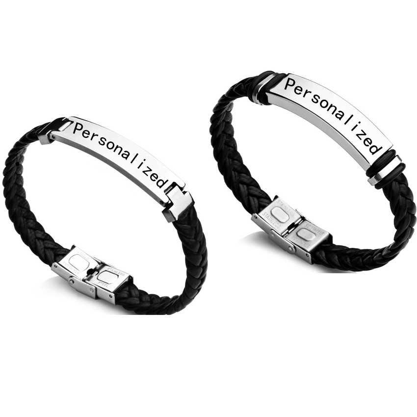 Friendship Bracelets Handmade Custom wristband Name Bangles Anniversary Gifts Couple bracelet