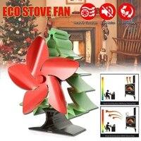 Árvore de natal temático calor alimentado fogão ventilador para log queimadores de madeira 5 lâminas aquecedor fogão ventilador|Exaustores| |  -