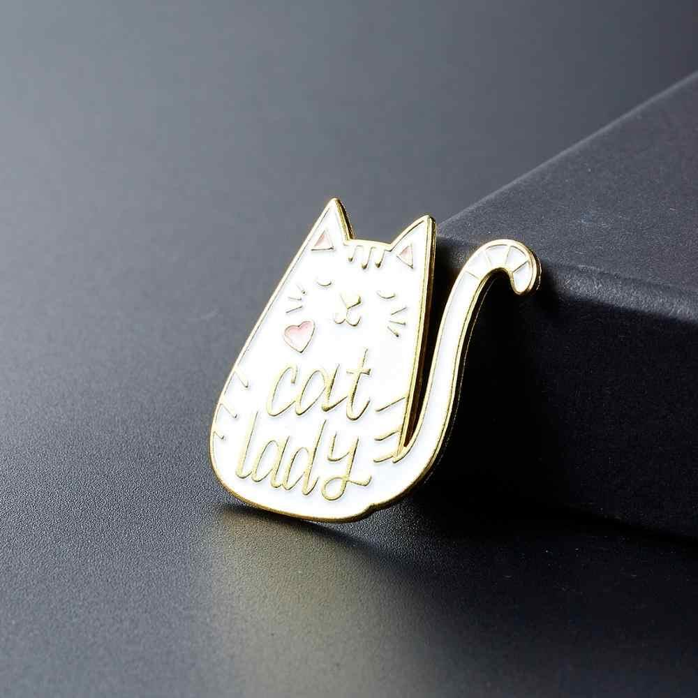 Rinhoo Yin Yang Pin Hitam Kucing Putih Bros Meow Cat Strawberry Enamel Kartun Lucu Memeluk Kucing Kotak Piala Anak Kucing hewan Bros