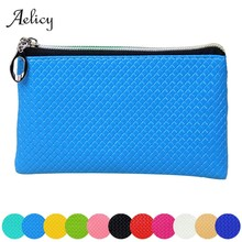 Aelicy Women Leather Coin Purse Zipper Cute Credit Card Holder Small Wallet Female Purses Headset Storage Pouch Mini Bag(China)