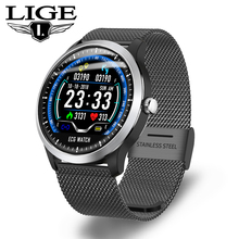 LIGE New ECG PPG smart watch heart rate monitor blood pressure watches ecg display Sleep Fitness Tracker Smartwatch Android IOS все цены
