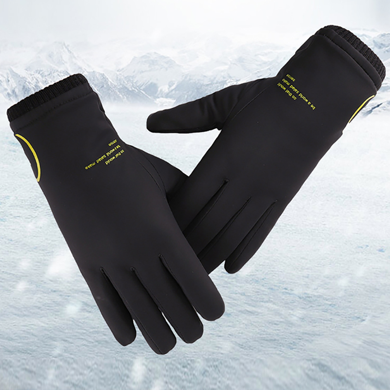 Fashion Winter Gloves Men Windproof Warm Motorcycle Ski Snow Snowboard Riding Gloves Outdoor For Мужские перчатки Rainproof G002